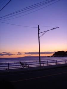 由比ケ浜の夕焼け