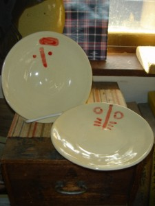 赤絵ダルマ取り皿
